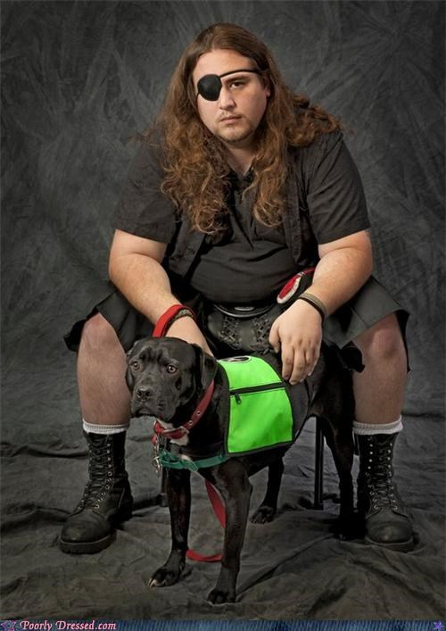 dogs eyepatch hair kilt Photo utilikilt - 4591222016
