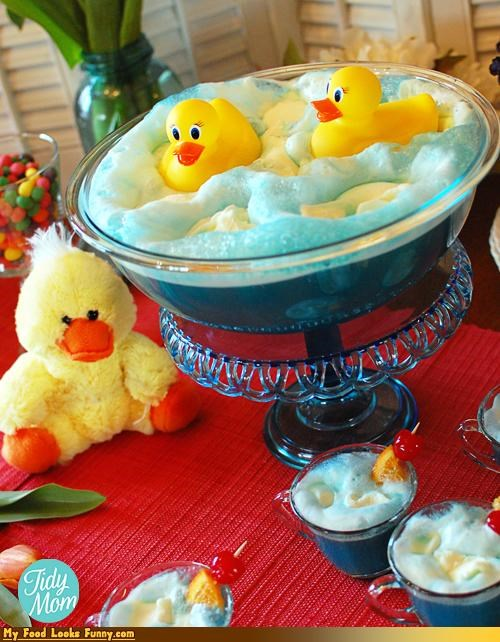 bath blue bubbles duckies punch