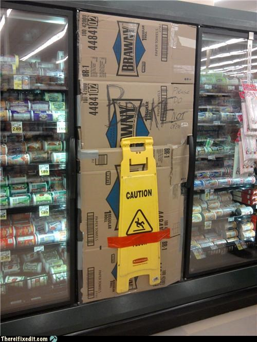 cardboard grocery store Professional At Work refrigerator - 4591649792