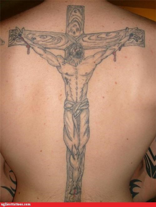 jesus wtf tattoos muscles funny - 4591882240