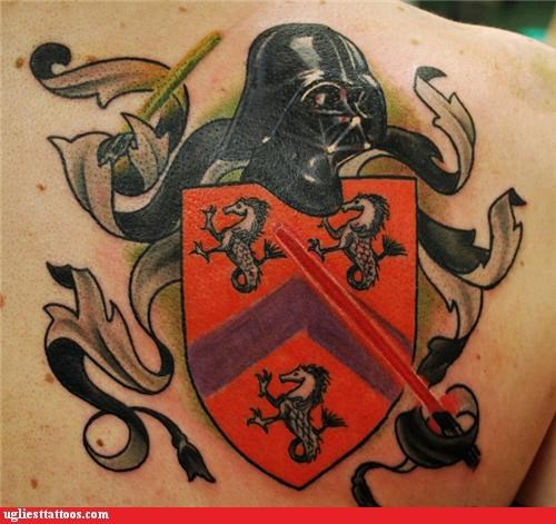 star wars,crests,tattoos,funny,darth vader
