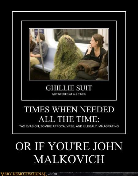 ghillie suit,john malkovich,train