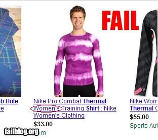 Women's Shirt FAIL What I came across looking for a thermal shirt