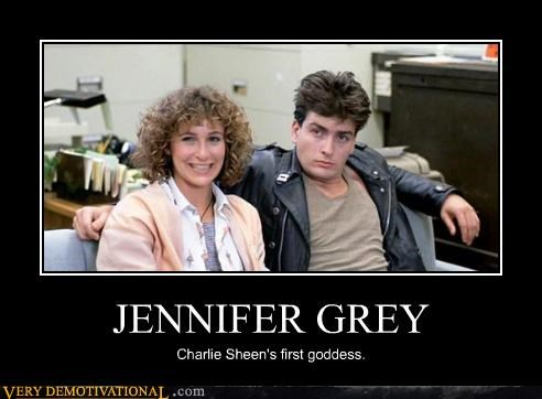 Charlie Sheen,goddess,jennifer grey