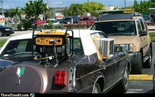 ac,air conditioner,cars,generator,power,wtf