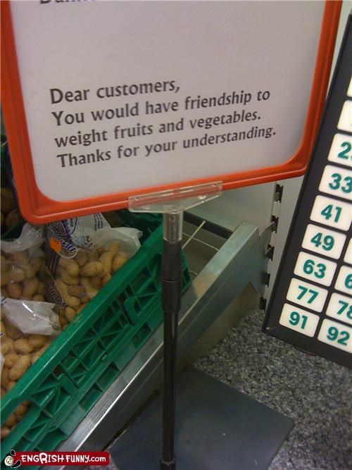 food,fruit,sign