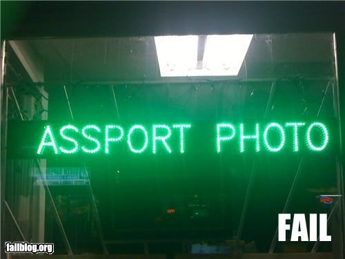 failboat missing letter neons passport signs yikes