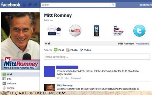 facebook magnets Mitt Romney mormons - 4593528320