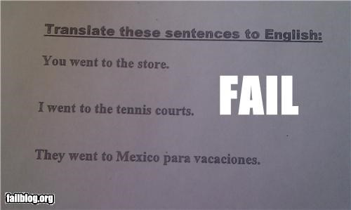 english failboat g rated poor planning spanish translations