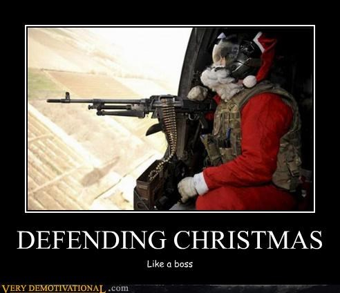 christmas,machine gun,santa