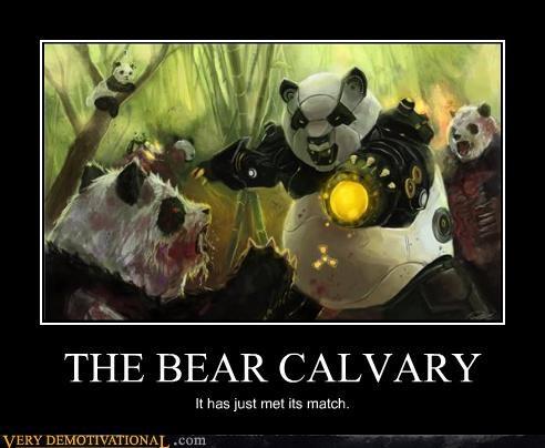 bear calvary panda robot - 4593940480