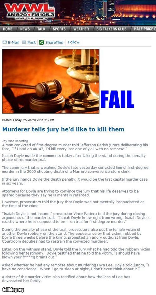 argument bad idea court defense failboat jury Probably bad News - 4594276096