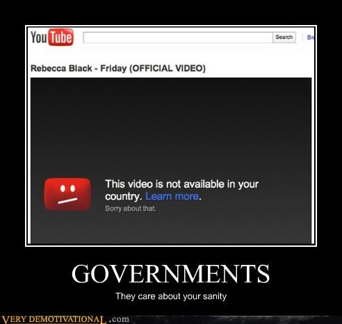 FRIDAY,government,Rebecca Black,sanity