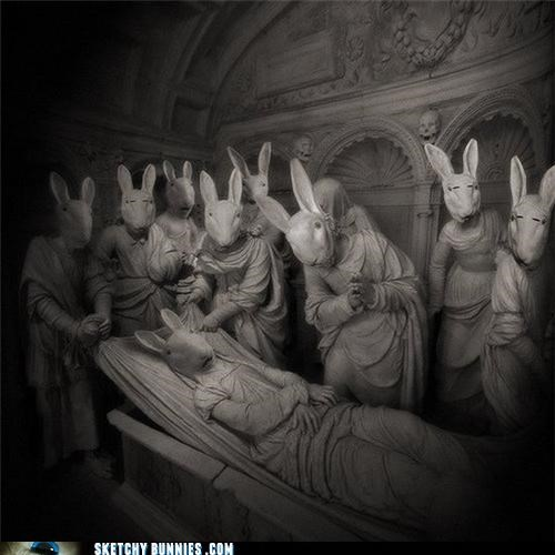 art creepy masterpiece nightmares so many bunnies - 4595561472