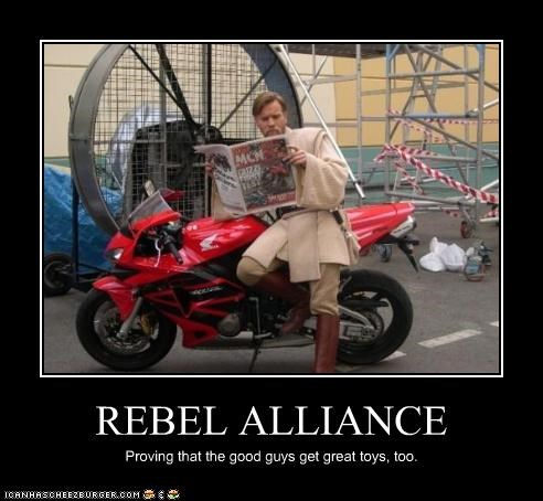REBEL ALLIANCE Proving that the good guys get great toys, too.