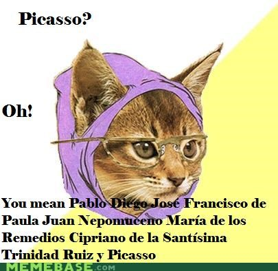 Hipster Kitty no I meant PETcasso picasso - 4596842240