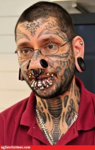 face tats,other bod mods,piercings