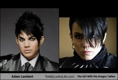 actresses,adam lambert,hair,movies,Noomi Rapace,singers,The Girl with the Dragon Tattoo