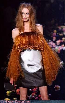 dress fashion hair runway weird wtf - 4597351424