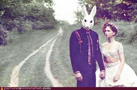 bunny mask wedding - 4597366784