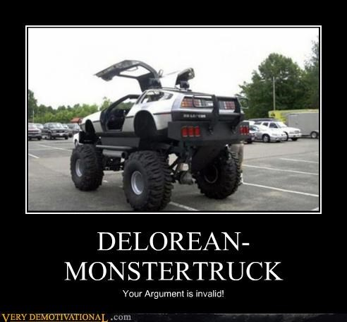 DeLorean,Invalid Argument,monster truck