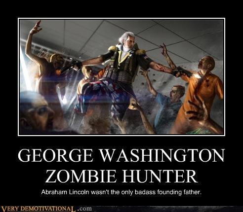 awesome george washington hunter zombie - 4597629440