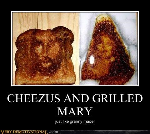 grilled cheese,jesus,mary,religious,wtf