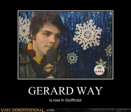 gerard way,gryffindor,Harry Potter