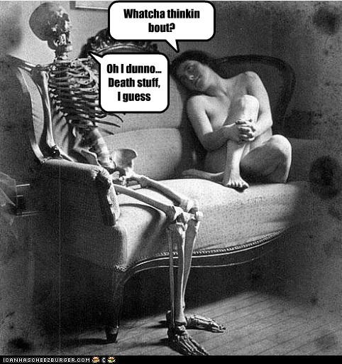 creepy funny lady Photo skeleton wtf - 4598487552