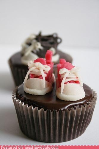 chocolate converse cupcakes epicute fondant shoes tiny - 4598758144