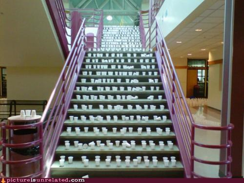 cups,lots,stairs