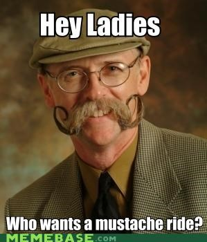 hey ladies moustache moustache rides usually 25 cents - 4599130112