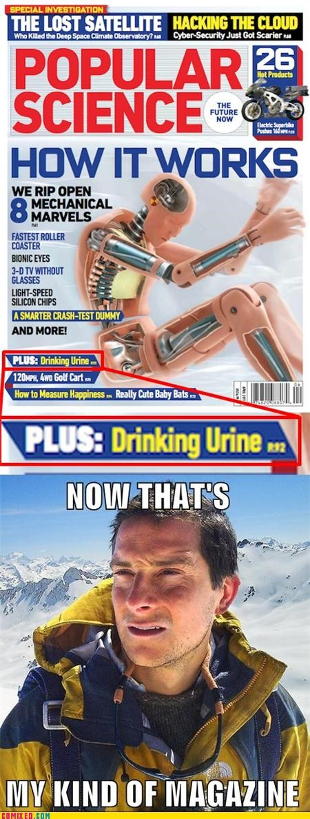 bear grylls,popular science,urine