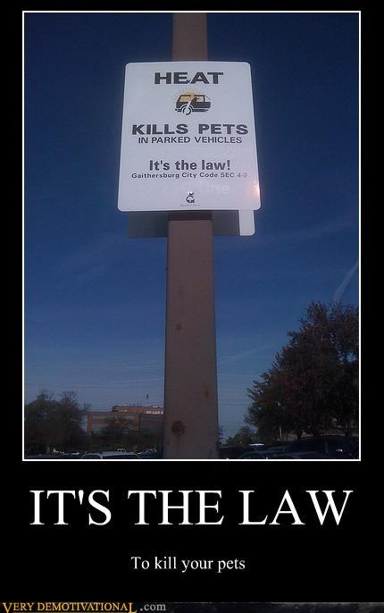 Heat law pets sad face sign - 4599246848