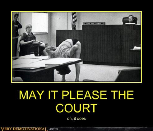 MAY IT PLEASE THE COURT oh, it does