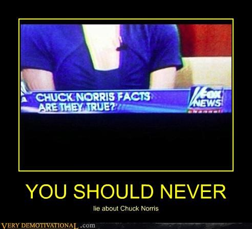 YOU SHOULD NEVER lie about Chuck Norris