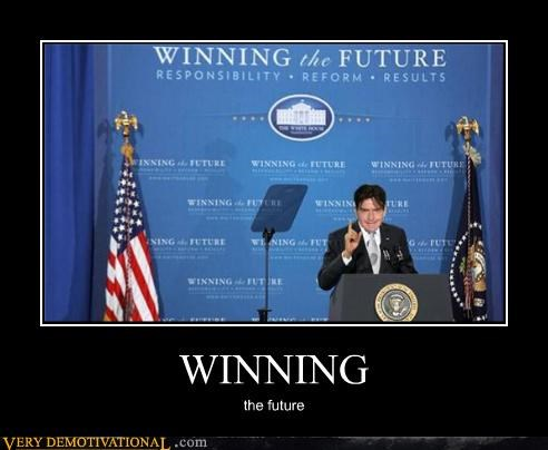 Charlie Sheen,obama,politics,the future,winning
