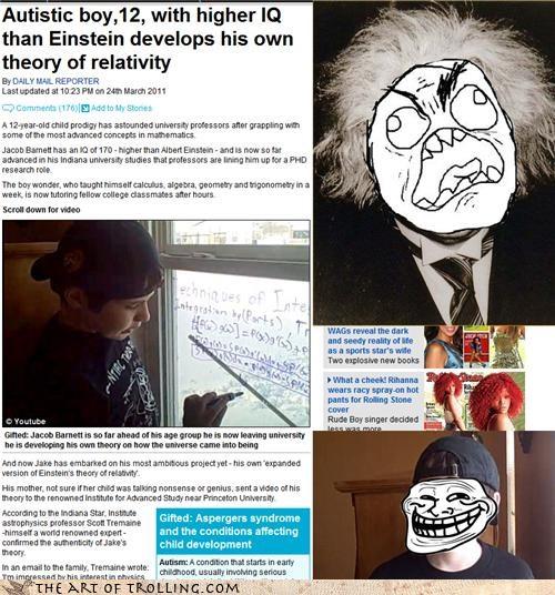 albert einstein time troll science umad - 4599598848