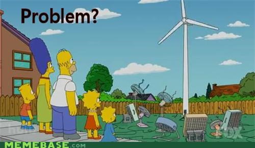 fan the simpsons troll science wind power - 4599742464
