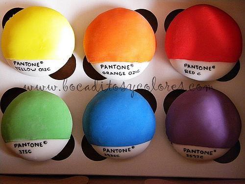 Colorful Cupcakes pantone - 4599932672
