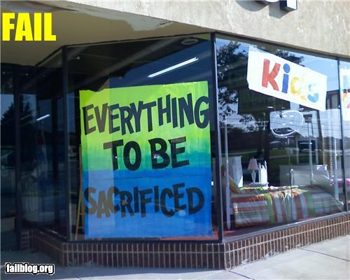children failboat g rated oops sacrifices sales store window display - 4600096256
