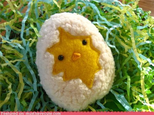 baby bird chick egg felt Plush