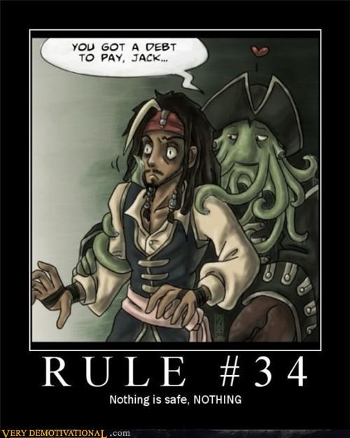 davey jones jack sparrow Pirates of the Caribbean Rule 34