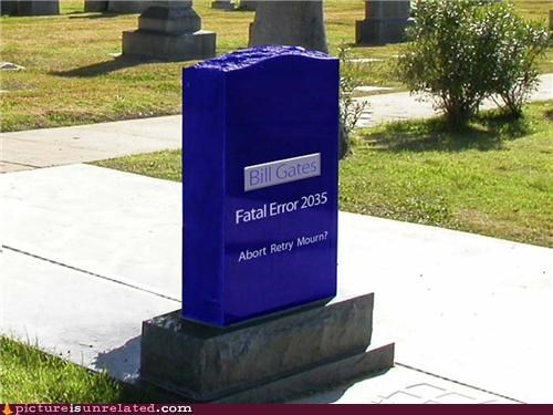 2035 Bill Gates fatal error tombstone - 4600518144