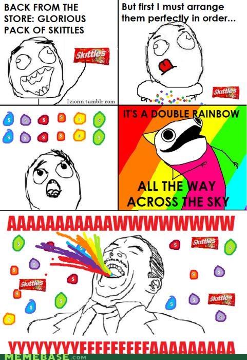 candy double rainbow rainbow skittles taste the rainbow - 4600697856