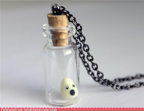 chain face jar Jewelry necklace pendant Sad soul - 4600756224
