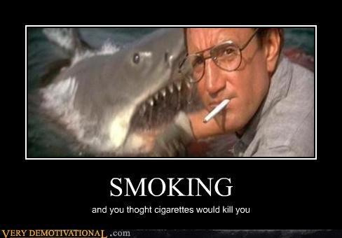 Death jaws shark smoking - 4600762112