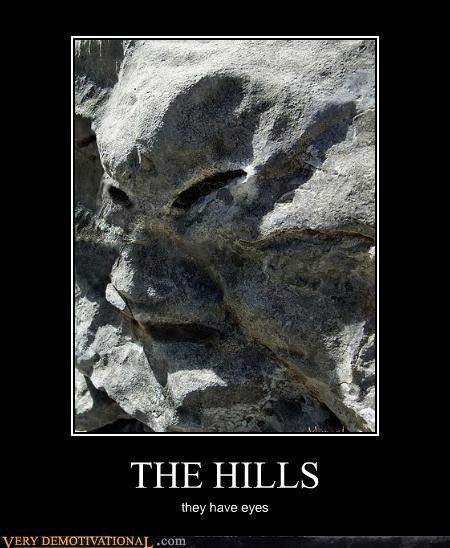 eyes,hills,rock
