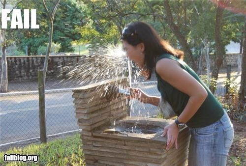 embarrassing failboat g rated thirsty user error water fountain - 4601084416
