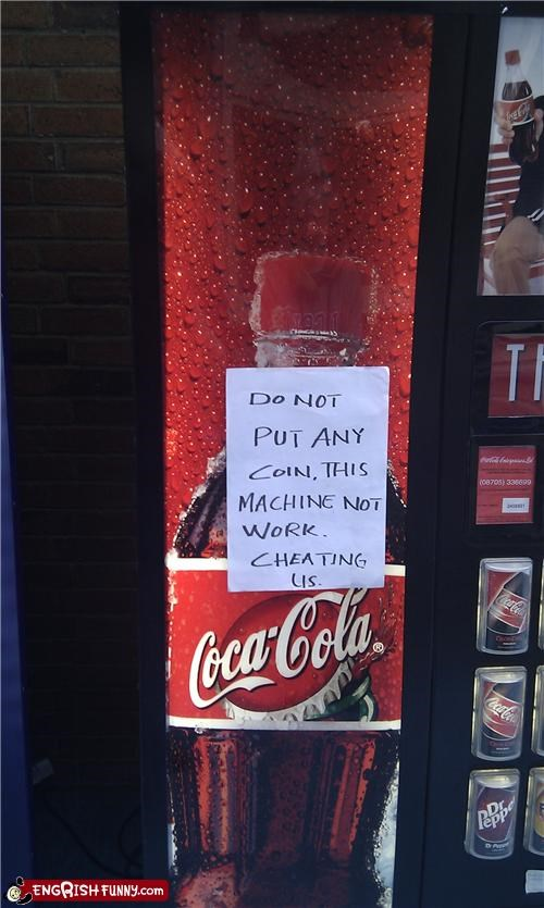 coke FAIL machine note - 4601363200